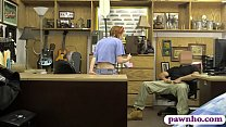 Small tits amateur redhead babe fucked at the pawnshop
