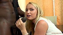 Your gorgeous WHITE wife FUCKING your boss's 11 inches BIG, BLACK COCK right front of you! thumbnail