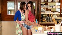 Mom (Adria Rae) fucks step daughter (Kendra Lust) in the kitchen » brazzers downlod thumbnail
