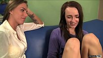 Naive Runaway Carmen Calloway eats Juelz Ventura pussy for a place to stay