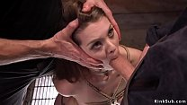 Two masters training anal brunette thumbnail