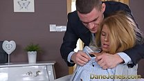 Dane Jones Redhead office secretary in stockings and heels gets slammed thumbnail