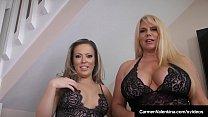 Carmen Valentina & Karen Fisher Suck A Dick To ...