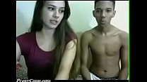 Brunette and Ex Boyfriend fuck on webcam -  ProxyCams.com