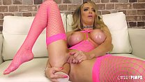Voluptuous Blonde Ass Playing and Masturbating With Toys In Live Solo Show