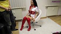 German MILF Nurse Katie give Young Virgin Boy First Blowjob