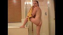 Meghan masturbates in the shower