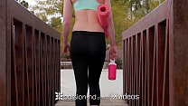 PASSION-HD Chloe Scott fucks her yoga instructor after outdoor workout