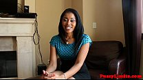 Ebony slut pussypounded after facefucked thumbnail