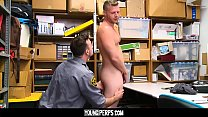 YoungPerps - Shoplifting stud takes cock up his ass and down his throat