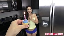 Cute teen gets devirginized at her birthday by ... Thumbnail