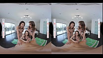 Naughty America - Vacationing college babes, Kylie Rocket, Maddy May, & Maya Woulfe share the big cock of a local boy they just met