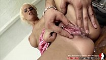 Blonde babe Sophie Logan loves a dominant fuck stud who nuts in her bald cunt! AMATEURCOMMUNITY.XXX