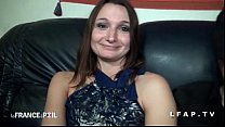 Ultra hot petite brunette gets her ass banged in a threesome