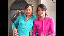 Two lovely latinas get fucked hard