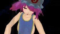 touhou yuyuko poledance MMD thumbnail