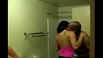 mature latin wife with piercings enjoys first bbc creampie in hotel