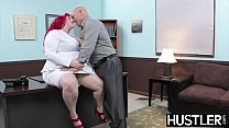 Redhead BBW Eliza Allure Jizz Smeared After Off
