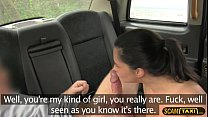 Damn gorgeous babes tight pussy gets a deep fucking in the cab
