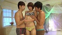 Subtitled shaved Japanese Seira Matsuoka threesome begins - 69VClub.Com