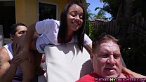 Holly Hendrix ass fucked with dad's friend thumbnail