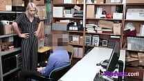 SEXY busty petite sucks BIG large WHITE cock in OFFICE