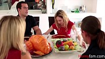 Sister Gets Naughty During Family Dinner- Angel Smalls
