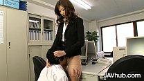 JAVHUB Rika makes her employee fuck her hairy p...