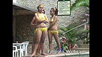 Filipina.webcam agogo sex chat hookers from Philippines in pool party