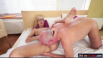 Slim Monique Woods blowing cock of and fucked by an oldtimer
