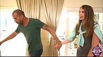 Sexy Russian Elena Koshka cleans the house and her boss cock