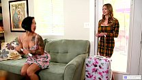 GIRLSWAY - Your Step Daughter watching us?! - Katie Morgan, Quinn Wilde and Honey Gold preview image