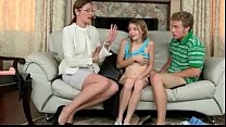 Strict stepmom hardcore strapon 3some with her stepdaughter thumbnail