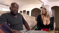 Busty Blonde Cougar with Sexy Stockings gets her Pussy Stretched by a BBC