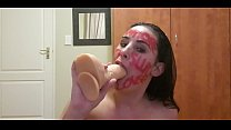 Self punish, pissing, slapping, gagging with dirty talking