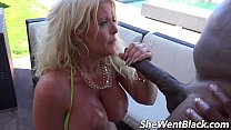 Big Tit MILF Anal Fucked by Black Cock by the Pool