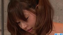 Buruma Aoi amazes with her big tits and smooth lips