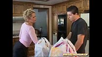 Kelly shows delivery boy how to fuck