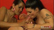 2 Bi-Girls besorgen es sich selbst und dem Nachbar - SPM RoxyAmandaTR09