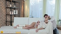 ORGASMS Young girl enjoys foreplay before passi...