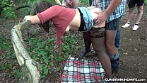 Slutwife Marion gangbanged by many strangers at the highway