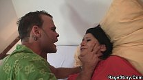 Cheating slut in nylons gets c. and screwed