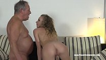 Grandpa Gives Horny Teen a Piece of His Old Cock's Thumb