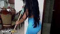 BANGBROS - Latina MILF Maid Casandra Cleans and Fucks For Extra Cash thumbnail