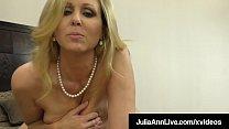 Cock Sucking Milf Julia Ann Milks A Hard Throbb