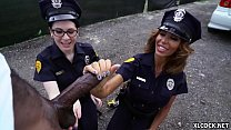 Lyla Lali and Norah Gold Take BBC on Patrol Car pornhub video