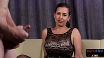Classy UK voyeur spreads legs for cheated loser