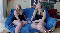Chubby blonde Marta finally convinces her cousi...