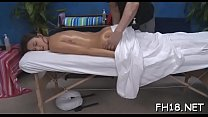 This sexy eighteen year old sexy girl gets fucked hard from behind by her massage therapist
