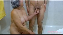 OmaHoteL Hairy Grandma and Lusty Couple Threesome pornhub video